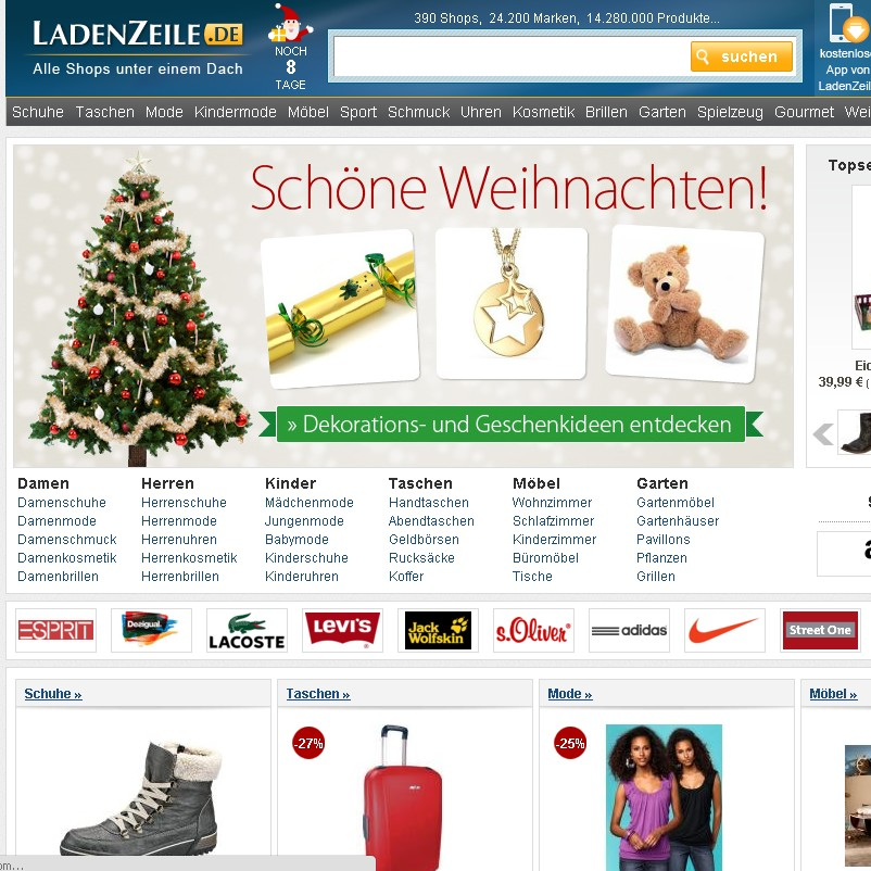 online mall betreiber axel springer kauft visual meta. Black Bedroom Furniture Sets. Home Design Ideas